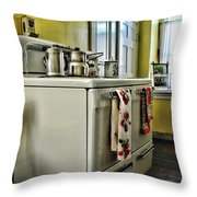 1950's Kitchen Stove Throw Pillow