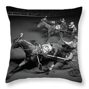 1950s Side View Of 3 Runners Throw Pillow