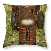 1950s Yard Hand Tractor Throw Pillow