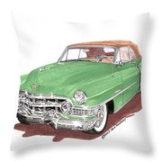 1951 Cadillac Series 62 Convertible Throw Pillow
