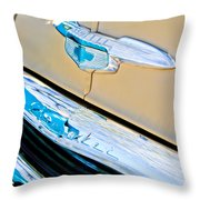 1951 Chevrolet Style Deluxe Grille Emblem Throw Pillow