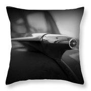 1951 Chevy Hood Ornament Throw Pillow