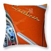 1951 Ford Crestliner Emblem - Wheel Throw Pillow