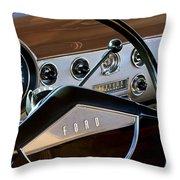1951 Ford Crestliner Steering Wheel Throw Pillow