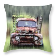 1951 Ford Truck - Found On Road Dead Throw Pillow