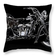 1951 Indian Chief Blackhawk Throw Pillow