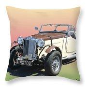 1951 M G T D B Throw Pillow