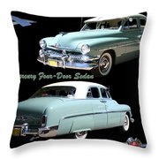 1951 Mercury Come And Going Throw Pillow by Jack Pumphrey