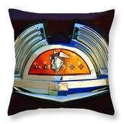 1951 Mercury Emblem Throw Pillow