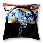 1951 Mg Td Dashboard Throw Pillow