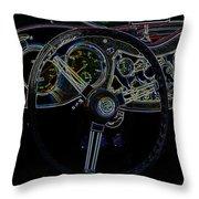 1951 Mg Td Dashboard_neon Car Art Throw Pillow