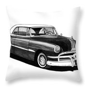 1951 Pontiac Hard Top Throw Pillow by Jack Pumphrey