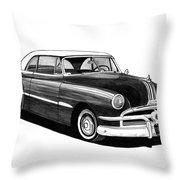 1951 Pontiac Hard Top Throw Pillow