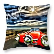 1951 Red Studebaker Throw Pillow