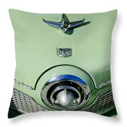 1951 Studebaker Commander Hood Ornament 2 Throw Pillow