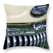 1952 Buick Eight Grill Throw Pillow