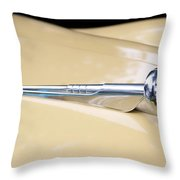 1952 Buick Eight Hood Ornament Throw Pillow