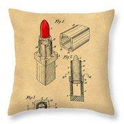 1952 Chanel Lipstick Case 4 Throw Pillow
