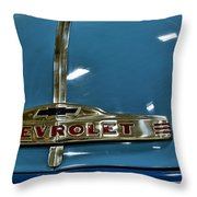 1952 Chevrolet Pickup Hood Throw Pillow