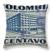 1952 Columbian Stamp Throw Pillow