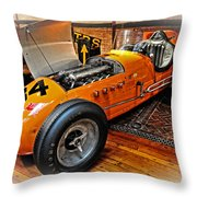 1952 Indy 500 Roadster Throw Pillow