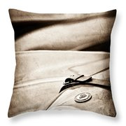 1952 Jaguar Xk 120 John May Speciale Grille Emblem Throw Pillow