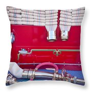 1952 L Model Mack Pumper Fire Truck Hoses Throw Pillow