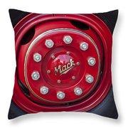 1952 L Model Mack Pumper Fire Truck Wheel Throw Pillow