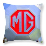 1952 Mg Roadster Emblem Throw Pillow