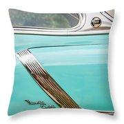 1952 Oldsmobile 98 Holiday Hardtop Side Emblem -1454c Throw Pillow