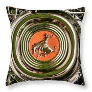 1952 Sterling Gladwin Maverick Sportster Wheel Emblem - 1720c Throw Pillow