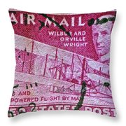 1952 Wright Brothers Stamp Throw Pillow