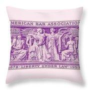 1953 American Bar Association Postage Stamp Throw Pillow