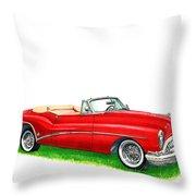 1953 Buick Skylark Convertible Throw Pillow