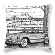 1953 Chevrolet Corvette Throw Pillow