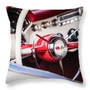 1953 Chevrolet Corvette Steering Wheel Emblem -1400c Throw Pillow