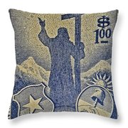 1953 Chile Stamp Throw Pillow