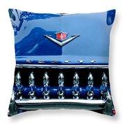 1953 Desoto Firedome Convertible Grille Emblem Throw Pillow