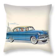 1953 Dodge Coronet - Square Format Image Throw Pillow
