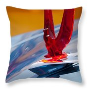 1953 Ford Hood Ornament Throw Pillow