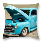 1953 Gmc Pickup Truck Throw Pillow