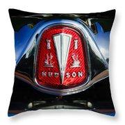 1953 Hudson Hornet Sedan Emblem Throw Pillow