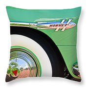 1953 Hudson Hornet Sedan Wheel Emblem Throw Pillow