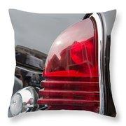 1953 Lincoln Capri Tail Light Throw Pillow