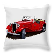 1953 M G T D  Throw Pillow