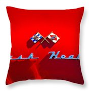 1953 Nash-healey Roadster Emblem Throw Pillow