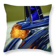 1953 Pontiac Hood Ornament 3 Throw Pillow
