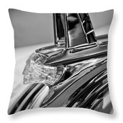 1953 Pontiac Hood Ornament 4 Throw Pillow by Jill Reger