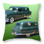 1953 Pontiac Panel Delivery Throw Pillow