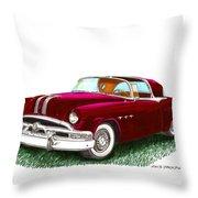 1953 Pontiac Parisienne Concept Throw Pillow by Jack Pumphrey